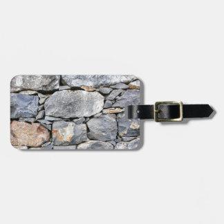 Etiqueta Para Maletas Backgound de piedras naturales como pared