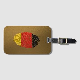 Etiqueta Para Maletas Bandera alemana de la huella dactilar del tacto