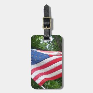 Etiqueta Para Maletas Bandera americana