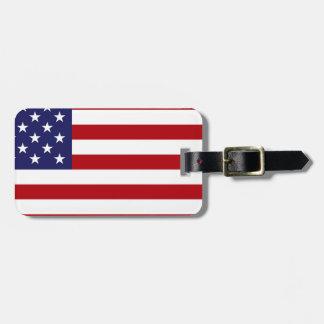 Etiqueta Para Maletas Bandera americana - barras y estrellas - vieja