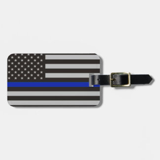 Etiqueta Para Maletas Bandera americana fina de Blue Line