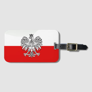 Etiqueta Para Maletas Bandera brillante polaca