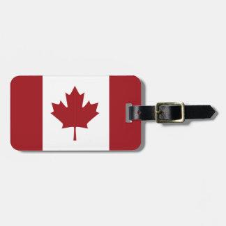 Etiqueta Para Maletas Bandera canadiense