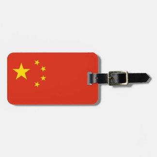 Etiqueta Para Maletas Bandera china patriótica
