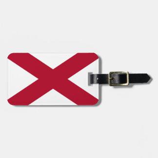 Etiqueta Para Maletas Bandera de Alabama