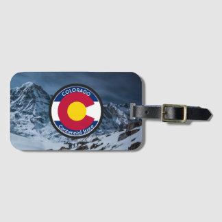 Etiqueta Para Maletas Bandera de la circular de Colorado