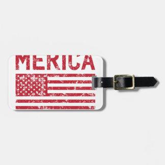 Etiqueta Para Maletas Bandera de Merica