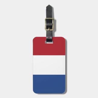 Etiqueta Para Maletas Bandera de Países Bajos