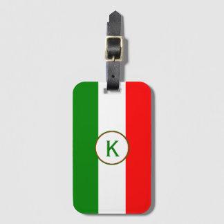 Etiqueta Para Maletas Bandera del italiano de InitiaI Italia