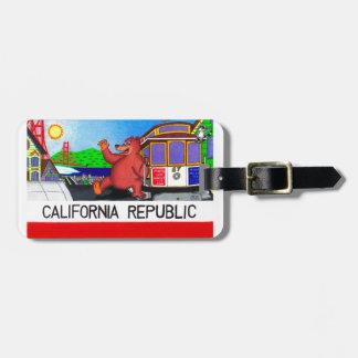 Etiqueta Para Maletas Bandera del oso de San Francisco California