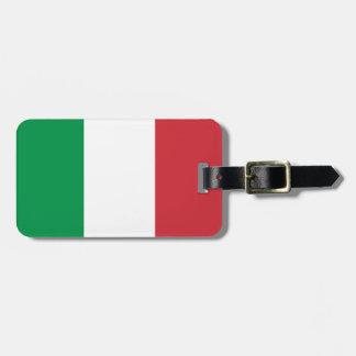 Etiqueta Para Maletas Bandera italiana patriótica
