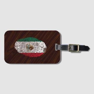 Etiqueta Para Maletas bandera mexicana de la huella dactilar del tacto