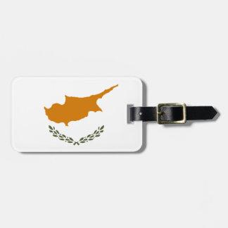 Etiqueta Para Maletas Bandera nacional del mundo de Chipre