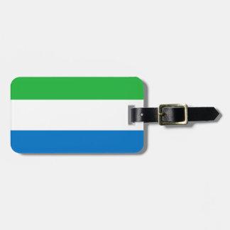 Etiqueta Para Maletas Bandera nacional del mundo del Sierra Leone