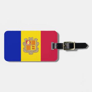 Etiqueta Para Maletas Bandera patriótica de Andorra