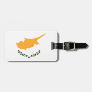 Etiqueta Para Maletas Bandera patriótica de Chipre