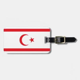 Etiqueta Para Maletas Bandera septentrional de Chipre