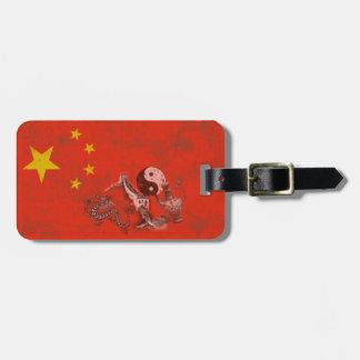 Etiqueta Para Maletas Bandera y símbolos de China ID158