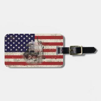 Etiqueta Para Maletas Bandera y símbolos de Estados Unidos ID155