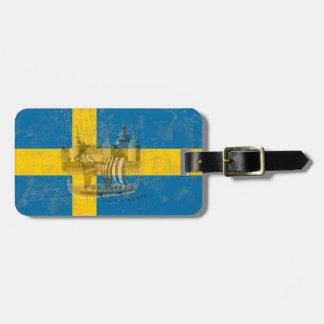 Etiqueta Para Maletas Bandera y símbolos de Suecia ID159