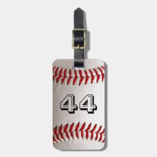 Etiqueta Para Maletas Béisbol con número adaptable