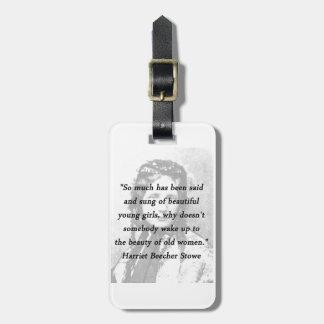 Etiqueta Para Maletas Belleza de mujeres mayores - Harriet Beecher Stowe