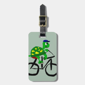 Etiqueta Para Maletas Bicicleta divertida del montar a caballo de la