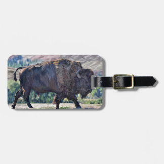 Etiqueta Para Maletas Bisonte americano del búfalo