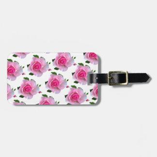 Etiqueta Para Maletas Blanco color de rosa rosado