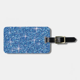 Etiqueta Para Maletas Brillo iridiscente azul