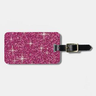 Etiqueta Para Maletas Brillo iridiscente rosado