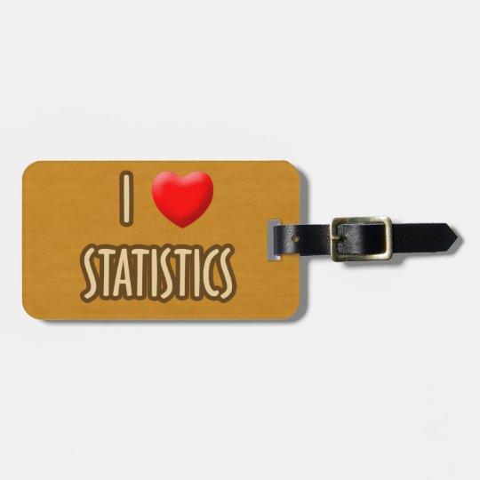 ETIQUETA PARA MALETAS BROWN MODEL - I LOVE STATISTICS