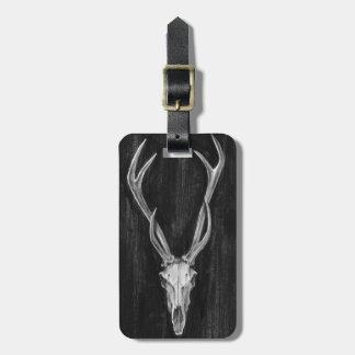 Etiqueta Para Maletas Cabeza rústica del animal de los ciervos