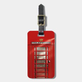 Etiqueta Para Maletas Cabina de teléfonos roja británica clásica
