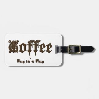Etiqueta Para Maletas Café - un abrazo en una taza    gótica