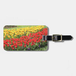 Etiqueta Para Maletas Camino de tulipanes