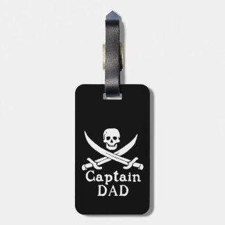 Etiqueta Para Maletas Capitán Dad - obra clásica