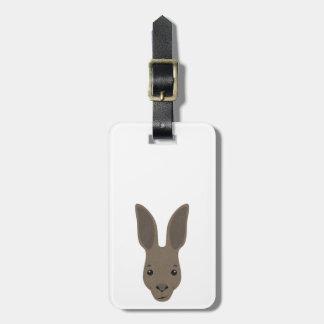 Etiqueta Para Maletas Cara del canguro