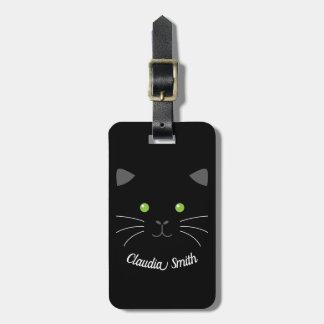 Etiqueta Para Maletas Cara del gatito