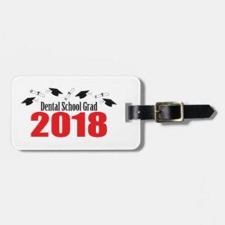 Etiqueta Para Maletas Casquillos y diplomas del graduado 2018 de la