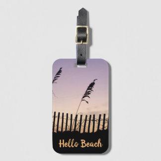 Etiqueta Para Maletas Cerca de la playa