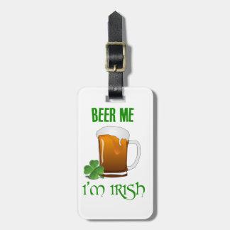 Etiqueta Para Maletas Cerveza yo soy irlandés