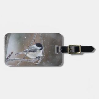 Etiqueta Para Maletas Chickadee Negro-capsulado - pájaro cantante