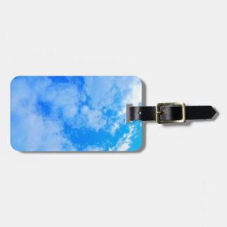 Etiqueta Para Maletas cielo azul