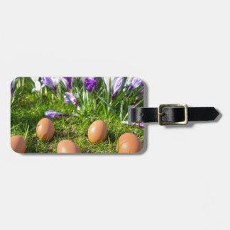 Etiqueta Para Maletas Cinco huevos flojos que mienten cerca de azafranes