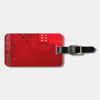 Etiqueta Para Maletas circuito electrónico rojo board.JPG