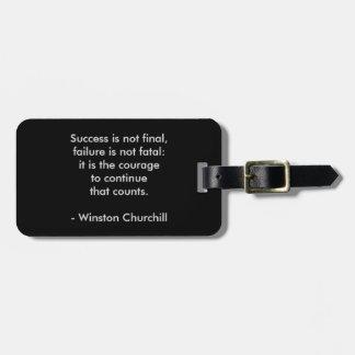 Etiqueta Para Maletas Cita de Winston Churchill; Éxito