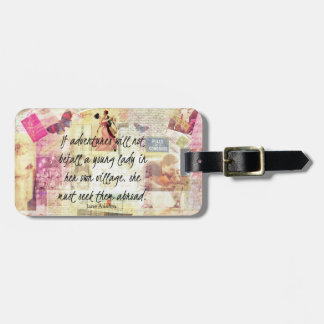 Etiqueta Para Maletas Cita linda caprichosa del viaje de Jane Austen