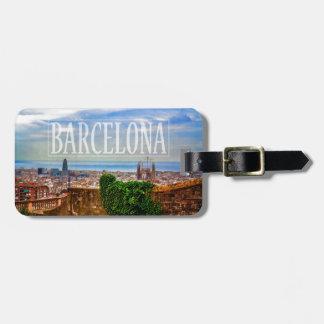 Etiqueta Para Maletas Ciudad de Barcelona