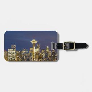 Etiqueta Para Maletas Ciudad de Seattle durante la igualación de